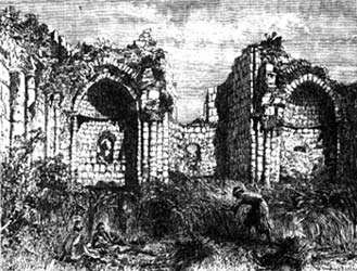 Ruins of medieval Crusader church in el-Bireh