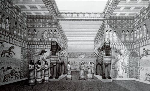 Palace at Nimrud in Iraq